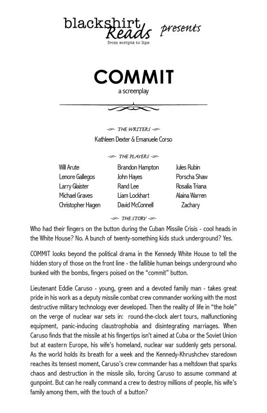 Commit playbill for web site