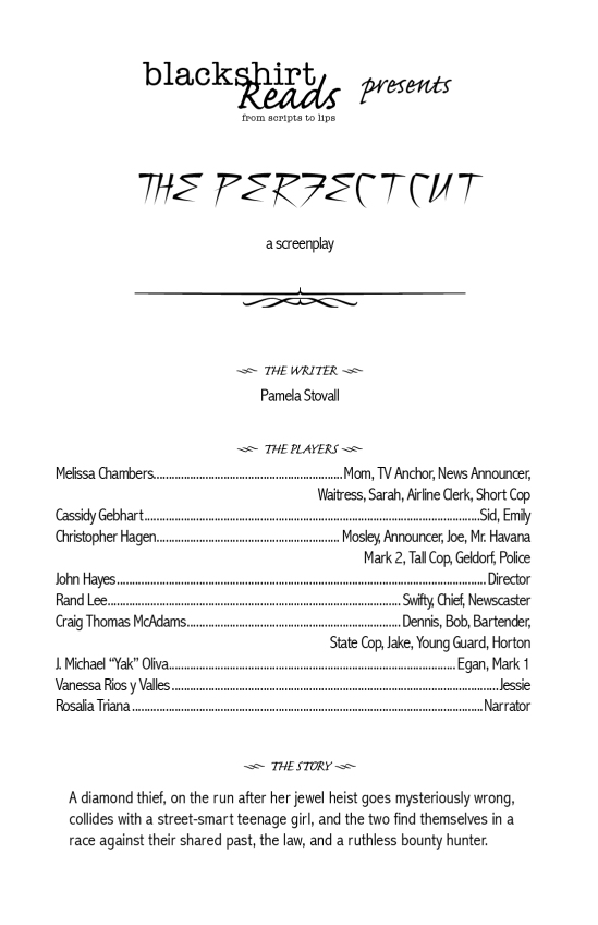 Perfect Cut playbill for web site